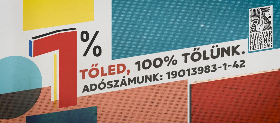 Adó 1% a Magyar Helsinki Bizottságnak