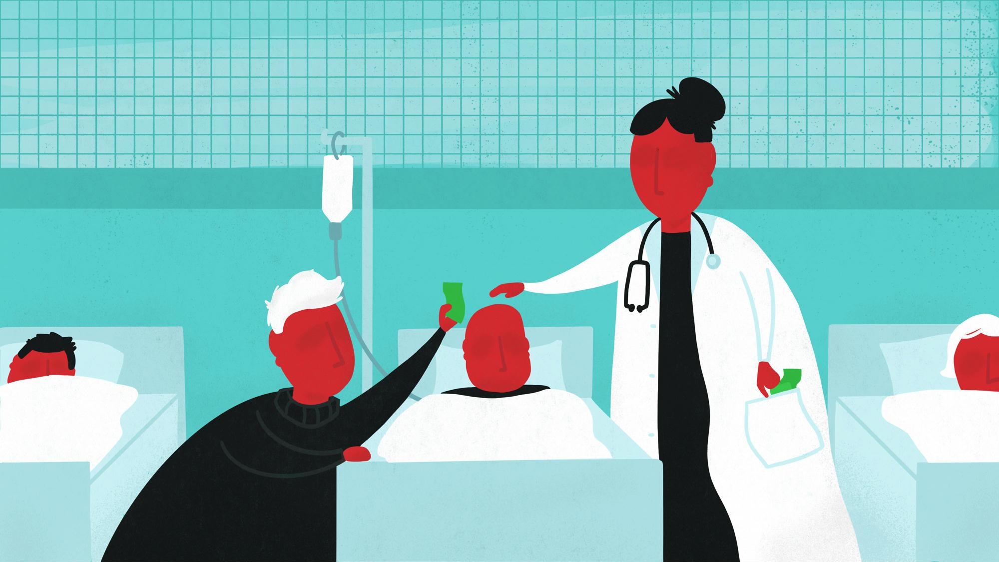 Egy kisváros főorvosa havi ötvenezer forintért nem rakja ki a krónikus osztályról a betegeket