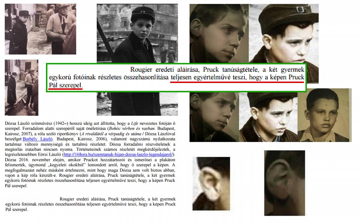 Antropológus szakértő  Pruck Pál és az 56-os fotón szereplő fiú nagy ... 315921f030