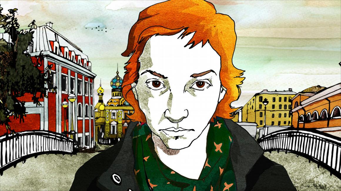 Ánya Szarang, a film narrátora, aki az interjút készítette Kosztyával