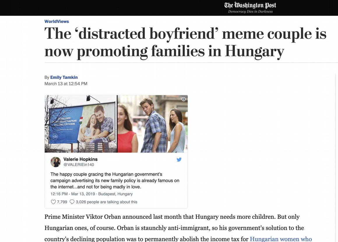 Családvédelmi Akcióterv: Kormányzati Siker: Világhíres Lett A Magyar Mémplakát