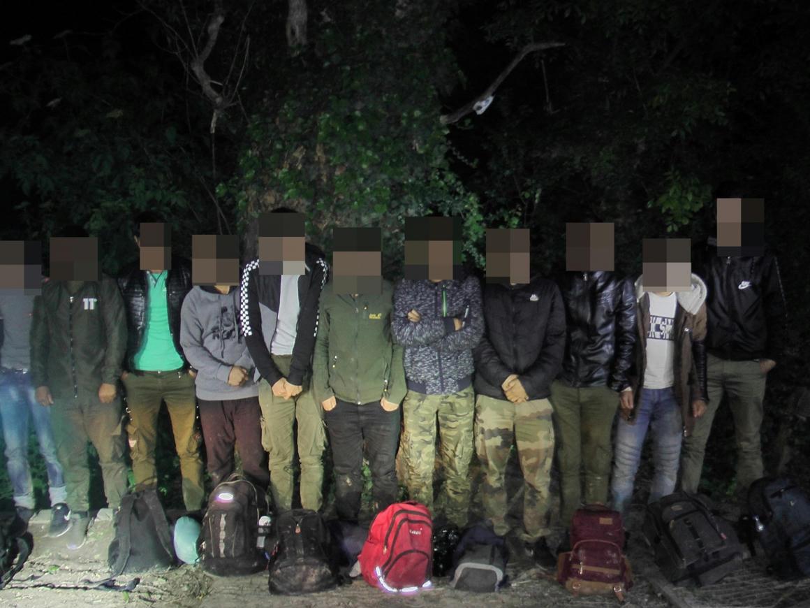 11 afgán sétált Hercegszántónál